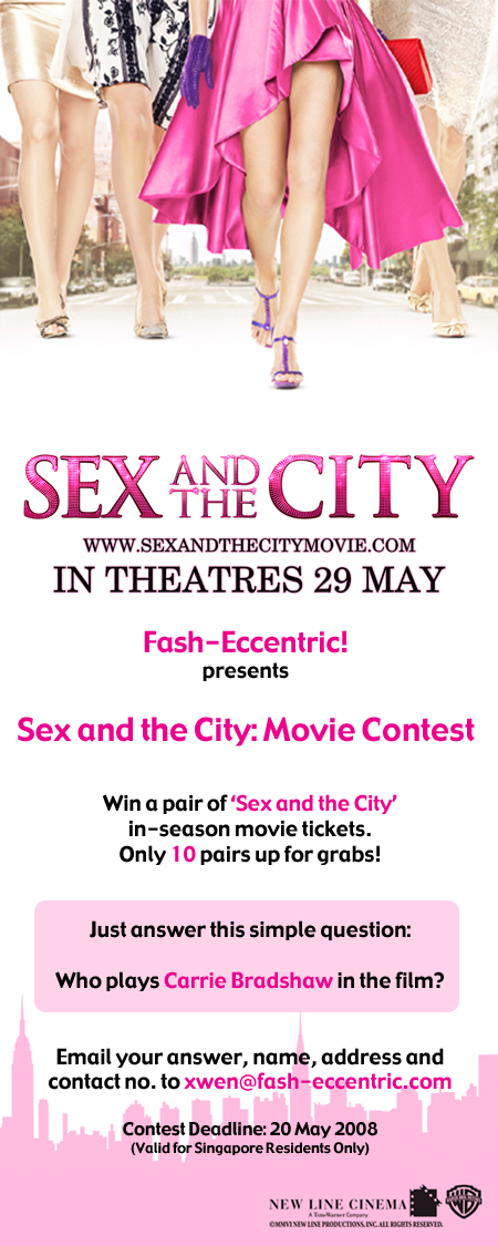 Win tickets to sex and the city