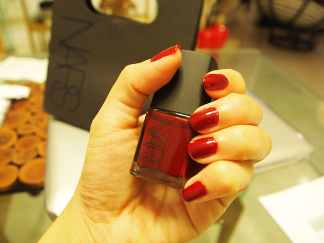 NARS in Singapore: NARS Nail Polish in Jungle Red – mummy/why